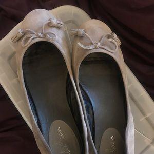 Grey suede COLE HAAN ballet flats, sz. 10